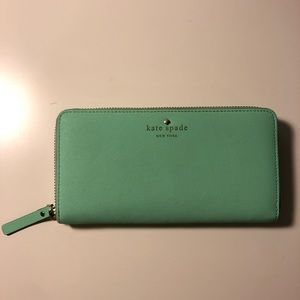 <KATE SPADE> AUTHENTIC PRETTY MINT WALLET